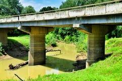 Brücke über Muddy Stream Lizenzfreies Stockbild