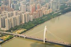 Brücke über Pearl River lizenzfreies stockfoto