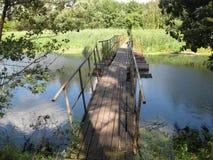 Brücke über Psel Lizenzfreie Stockfotos