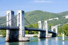 Brücke über Rhône-Fluss Lizenzfreies Stockbild