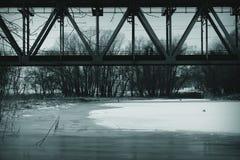 Brücke über See Lizenzfreie Stockfotografie
