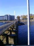 Brücke über See Stockbild