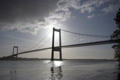Brücke über wenigem Gurt Stockfotografie