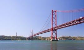 Brücke 25 de Abril Stockfoto