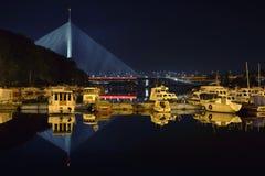 Brücke Ada in Belgrad Lizenzfreies Stockbild
