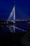 Brücke Ada in Belgrad Stockfotografie
