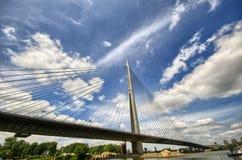 Brücke Ada-Ciganlija Stockfoto