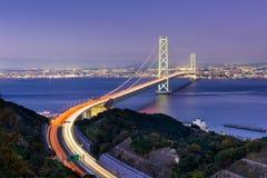 Brücke Akashi Kaikyo Ohashi Lizenzfreie Stockbilder