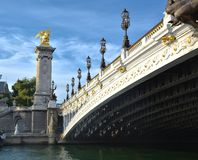 Brücke Alexander 3 Stockbild