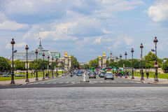 Brücke Alexander-III in Paris, Frankreich. Lizenzfreie Stockfotografie