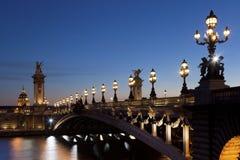 Brücke Alexanders III, Paris Stockbild