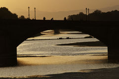 Brücke alla Caraia Florenz Stockfotografie