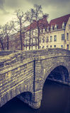 Brücke in altem Europa - Brügge lizenzfreie stockfotografie