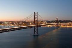 Brücke 25. April Lizenzfreie Stockbilder