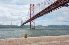 Brücke am 25. April, Lissabon Lizenzfreies Stockfoto