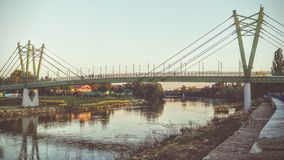 Brücke in Arad Lizenzfreie Stockbilder