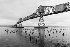 Brücke in Astoria, Oregon Lizenzfreies Stockfoto