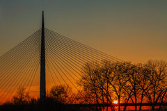 Brücke auf Ada Lizenzfreie Stockbilder