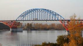 Brücke auf dem Fluss stock footage