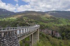 Brücke auf dem Fluss Tara Stockbild