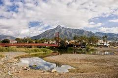 Brücke auf Green River in Marbella Stockbilder