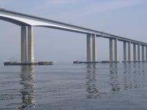 Brücke auf dem Meer Lizenzfreies Stockfoto