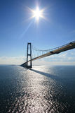 Brücke auf dem Meer Stockbilder