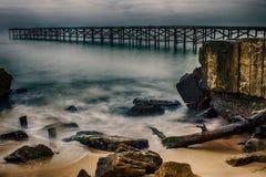 Brücke auf dem Meer in Varna Stockfotografie
