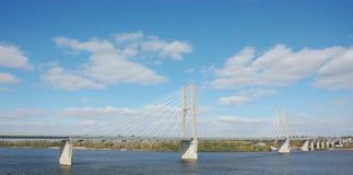 Brücke auf dem Mississippi Lizenzfreie Stockbilder