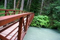 Brücke auf dem Skagway Fluss, Alaska Lizenzfreie Stockbilder