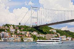 Brücke auf der Bosphorus Straße lizenzfreie stockfotografie