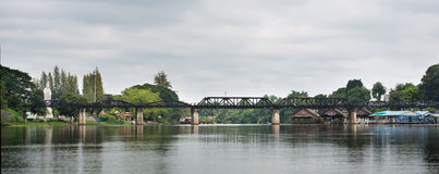 Brücke auf Fluss Kwai stockbilder