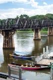 Brücke auf Fluss Kwai lizenzfreie stockfotos
