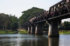 Brücke auf Fluss Kwai Stockfoto