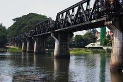 Brücke auf Fluss Kwai Stockfotos
