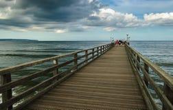 Brücke auf Ostsee Stockbild