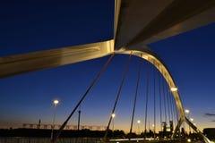 Brücke Barqueta s in Sevilla stockbild
