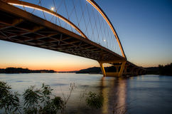Brücke bei Sonnenuntergang Stockfoto