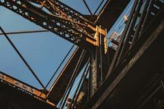 Brücke bei Sonnenuntergang in Pittsburgh Stockbilder