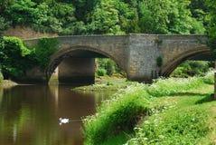 Brücke bei Warkworth Stockbild