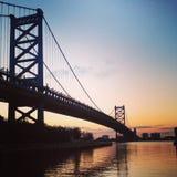 Brücke Ben-Franklin Stockfotos