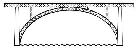 Brücke Bern lizenzfreie abbildung