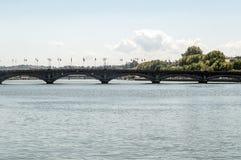 Brücke in Biarritz Stockfotografie