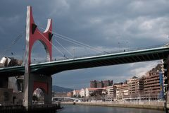 Brücke in Bilbao stockbild