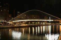 Brücke Bilbaos ZurbiZuri Lizenzfreie Stockfotos