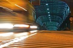Brücke bis zum Nacht Stockfoto