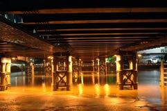 Brücke bis zum Nacht Lizenzfreies Stockfoto