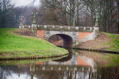 Brücke in Bremen-Park Stockfotos