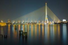 Brücke Bsngkok Thailand Rama VIII Lizenzfreie Stockfotos