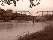 Brücke an Caplinger-Mühle Lizenzfreies Stockfoto